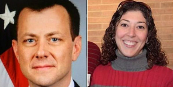 FBI agent Peter Strzok and former bureau lawyer Lisa Page