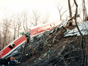 Wreckage of Avianca Boeing 707 that crashed in New York in 1990. (Wikimedia Commons)