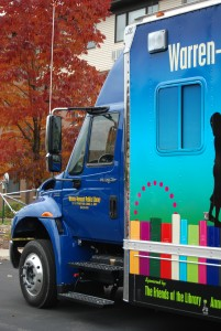 bookmobile front in fall