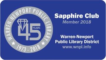 sapphire card, library card, 45th anniversary