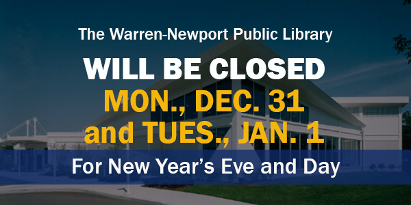 New Year, holidays, scheduled closings