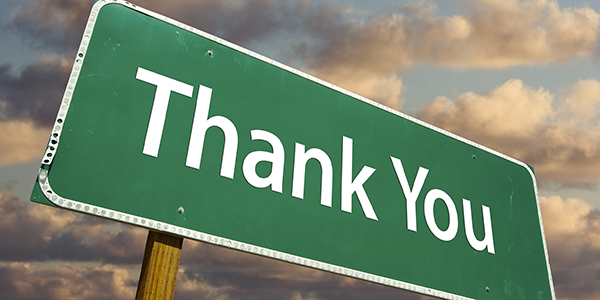 thank you, gratitude, construction, parking lot