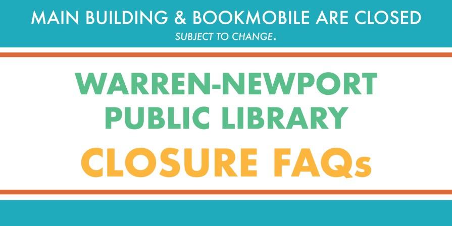 library closure, FAQs, questions