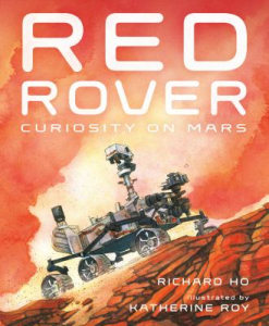 Rover on the red rock of Mars