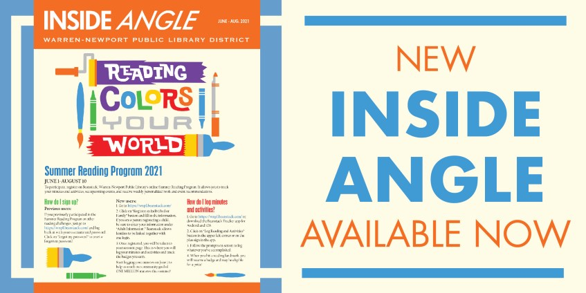 New Inside Angle Available Now, June-Aug. 2021, Reading Colors Your World