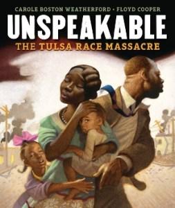 An African American family runs from destruction