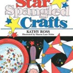 red, white, and blue crafts including pinwheels