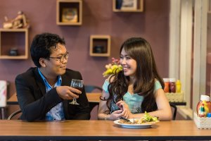 smiling dating flirting