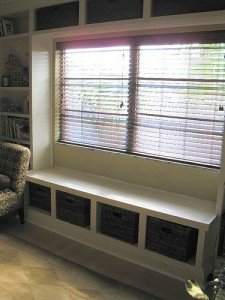 Our inspiration - Window Seat Bookcase