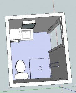 Small cottage bath layout