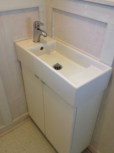 Lillangen Sink from Ikea. with Krakskar faucet