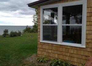Shingle cottage on the lake