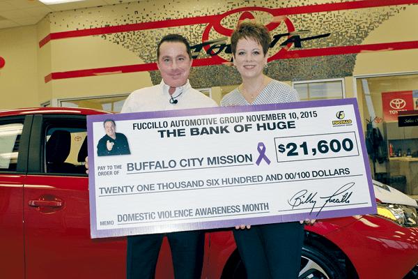 Fuccillo Donates 21600 To Buffalo City Mission