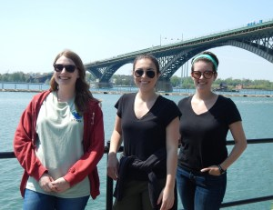 Summer 2018 Management and Outreach Assistants – Julia Kostin, Rebecca Mann and Emily Thiel. Photo Credit: WNY PRISM.