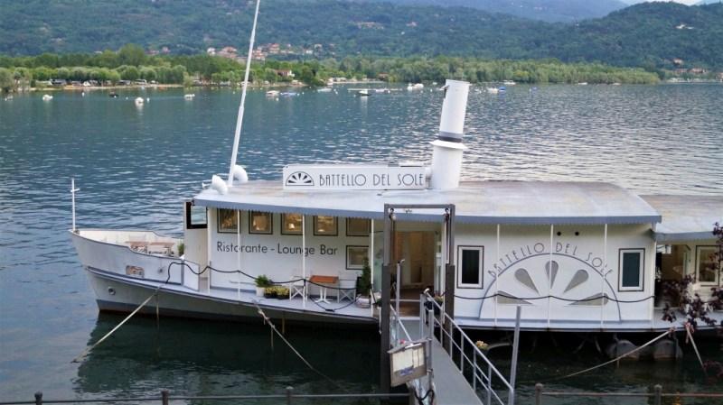 """Das Restaurant """"Battello del Sole"""" auf dem Lago Maggiore"""