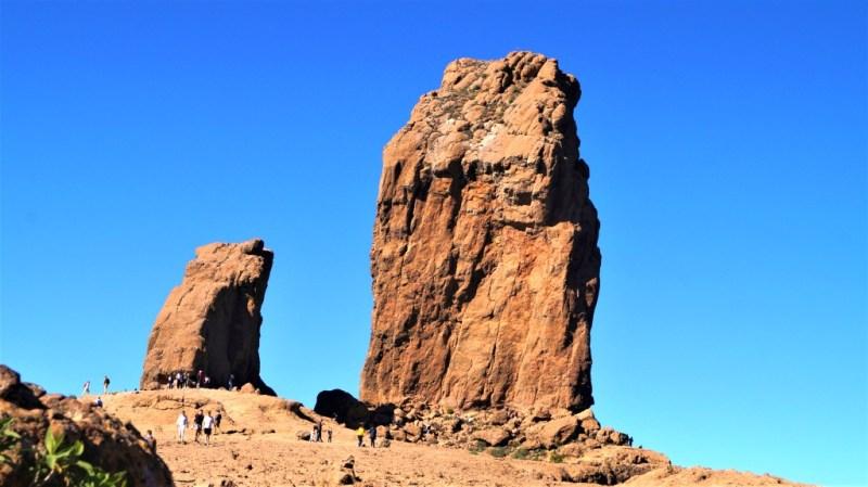 Der Roque Nublo war für die Ureinwohner Ureinwohner der Kanarischen Inseln ein heiliger Berg
