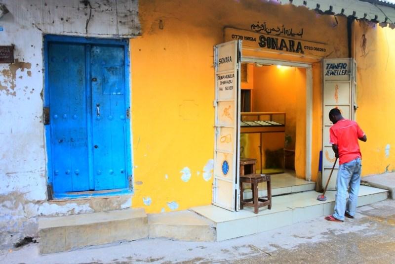 Geschäfte auf Sansibar