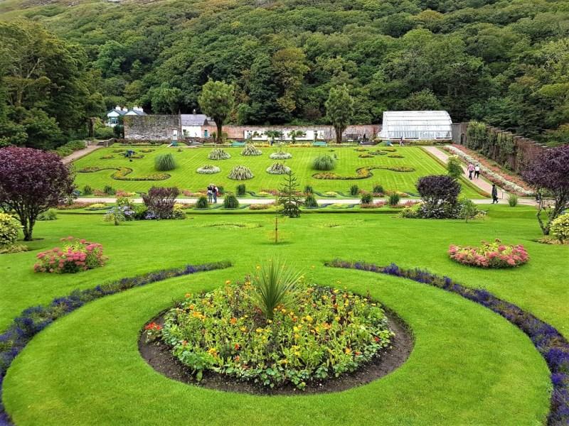 Garten vom Kylemore Abbey