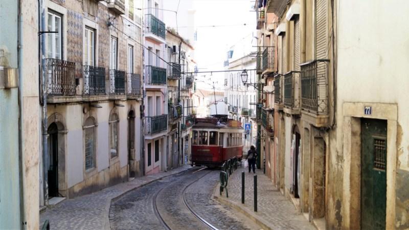 Alte Straßenbahn Lissabon