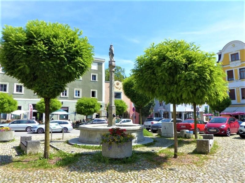 Chillen am Marienbrunnen in Laufen
