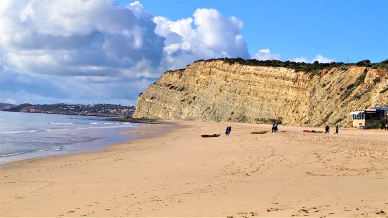 Kajak am Strand Praia de Porto de Mos