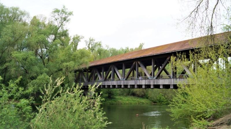 Althreinbrücke zur Ketscher Rheininsel