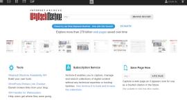 Wayback Machine - age of a website