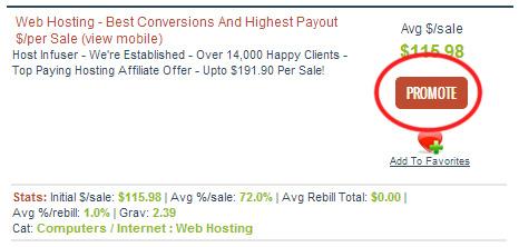 click promote button