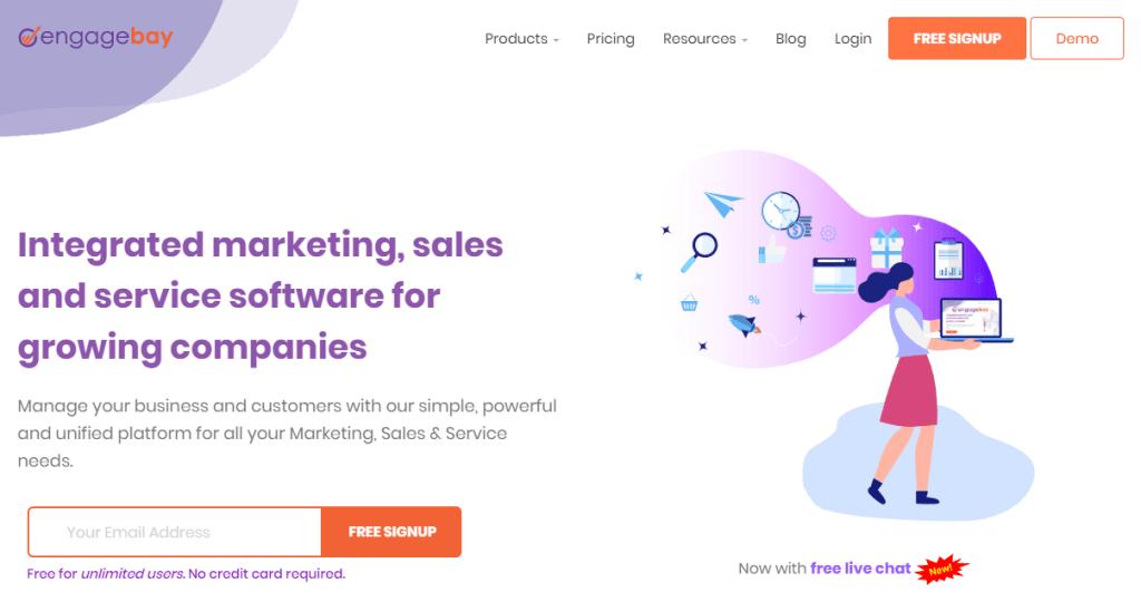 engagebay homepage