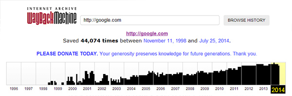 how old is google