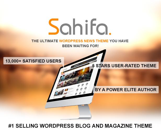 Sahifa Responsive WordPress Theme Featured Cover