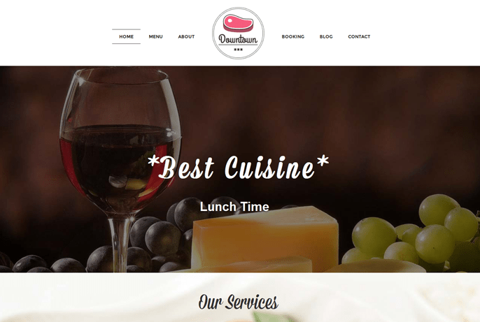 Downtown – Restaurant WordPress Theme