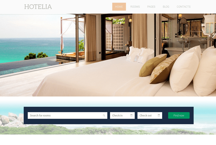 Hotelia – Hotel WordPress Theme