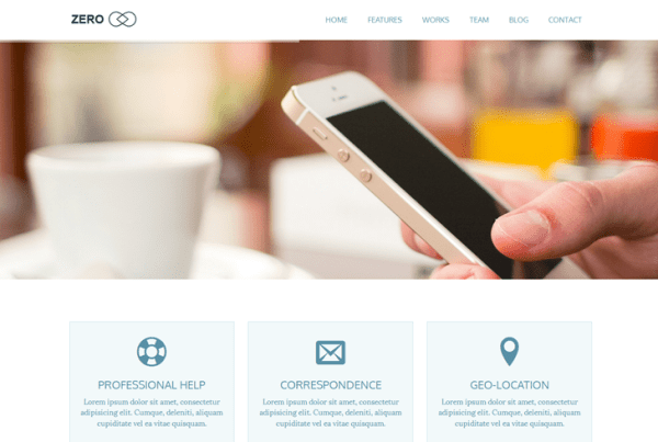 Zero – Multipurpose WordPress Theme