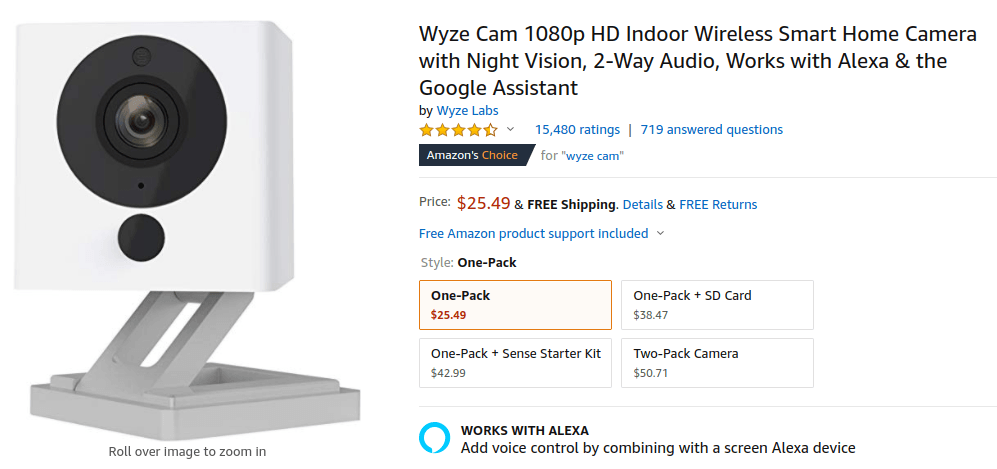 great-product-example smart home camera
