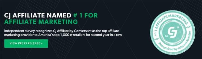 CJ Affiliate Named No 1 For Affiliate Marketing