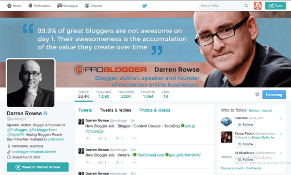 9 Proven Ways To Get Your First 1,000 Twitter Followers - Darren Rowse