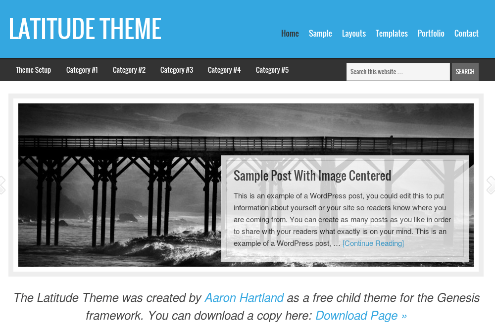 Latitude – A Free Genesis Child Theme Feature