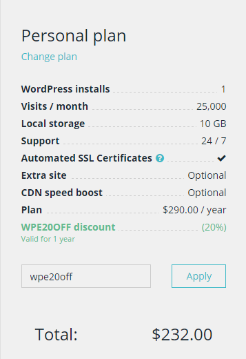 wpengine deal coupon added