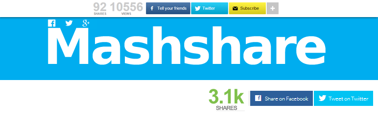 20 Best Social Media Plugins For WordPress Mashshare