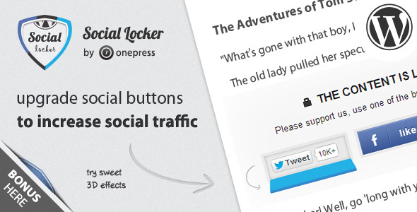 20 Best Social Media Plugins For WordPress Social Locker for WordPress