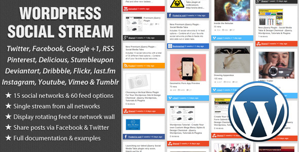 20 Best Social Media Plugins For WordPress WordPress Social Stream