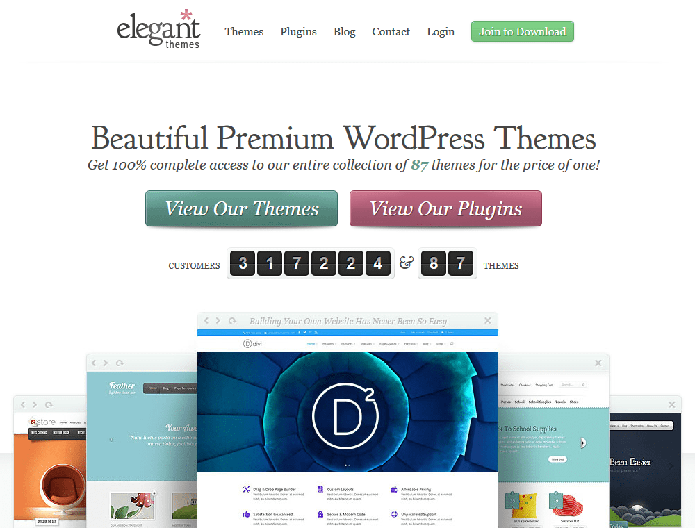 Best Premium WordPress Themes Clubs Elegant Themes