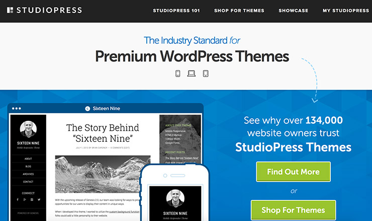 Best Premium WordPress Themes Clubs Studiopress