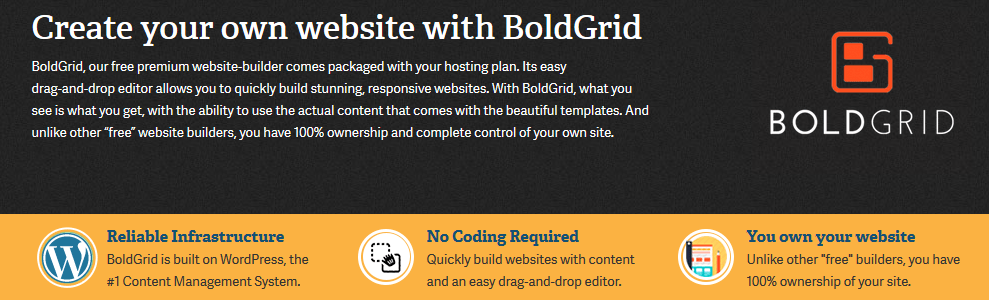 BoldGrid Review Landing Page