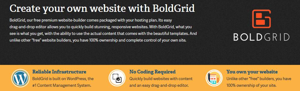 BoldGrid Review Landing Page