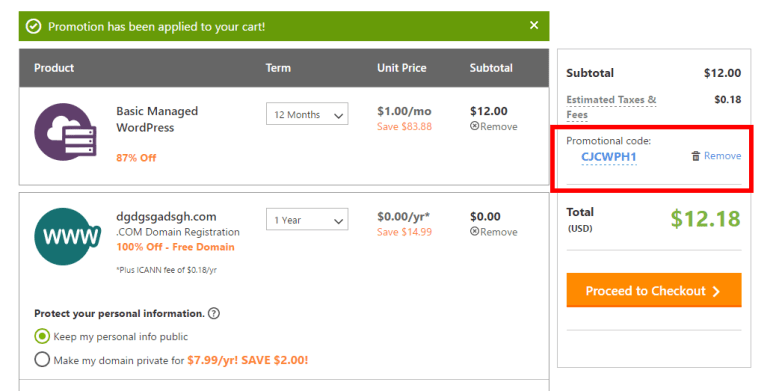 GoDaddy Coupon Hosting