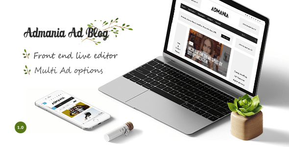 Admania Best AdSense WordPress Themes for Earning More