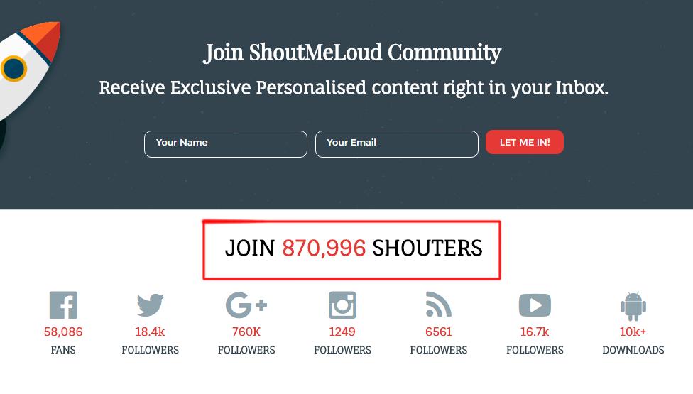 shoutmeloud followers