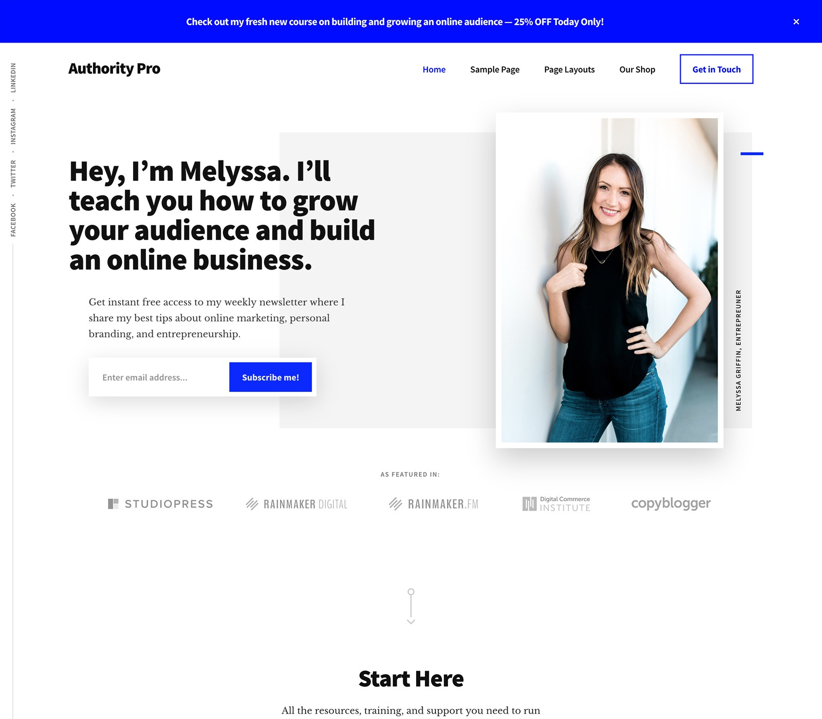 Authority Pro Theme Top 10 Best Genesis Child Themes For WordPress Blogs